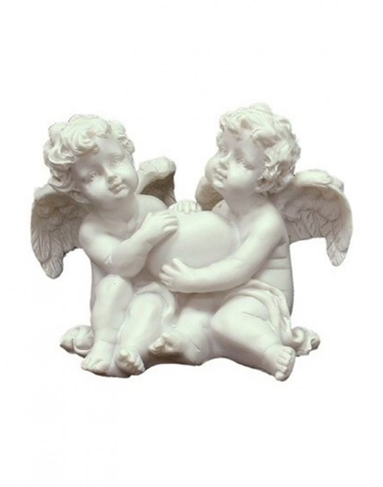Du angeliukai su širdele