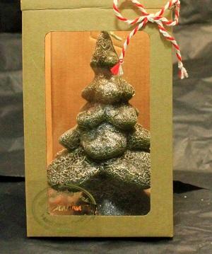 Kalėdinė žvakė Eglutė 15 cm.