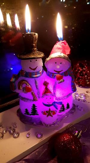 LED žvakė Šeimynėlė