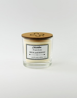 sojų vaško žvakė