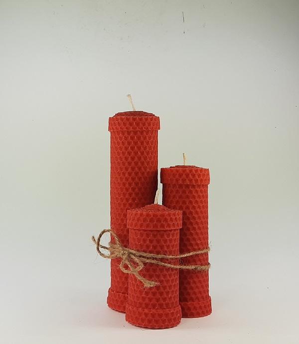 Rankų darbo bičių vaško žvakės