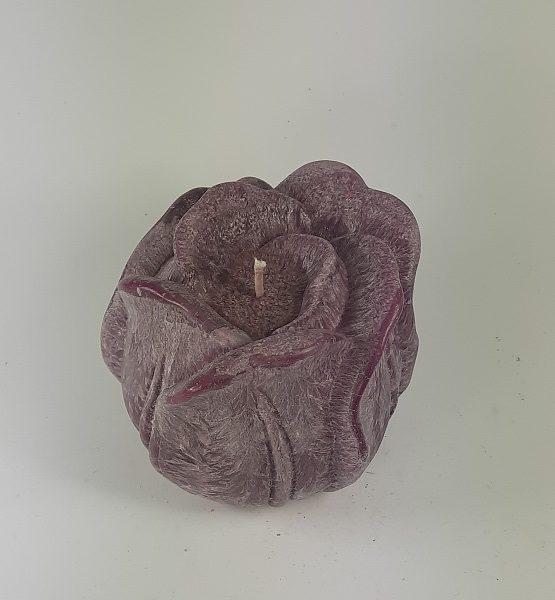 Rankų darbo Palmių vaško žvakė GĖLĖ 12x13 cm