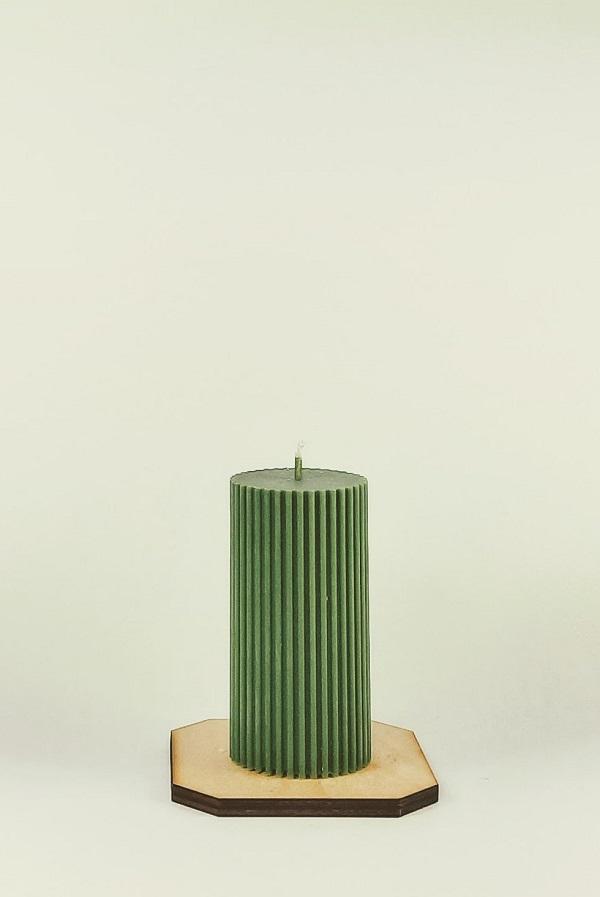Sojų vaško cilindrinė žvakė