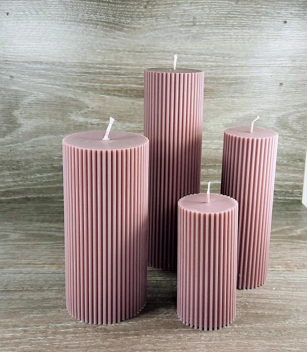 Sojų vaško cilindrinės žvakės